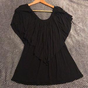 Sexy black blouse